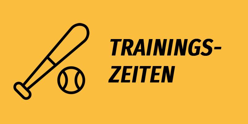 Banner Trainingszeiten